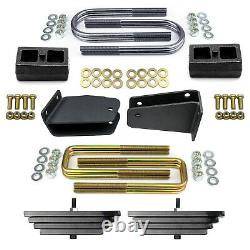 2 Front 2 Rear Lift Kit with Axle Pivot Bracket For 1980-1998 Ford F250 4WD