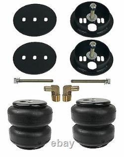 Air Lift D2600 Air Bags With Bracket Mounts & 1/2 Elbows For 1963-72 Chevy C10