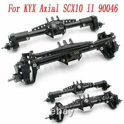 CNC Metal Front & Rear High Lift Portal Axle Kit for KYX Axial SCX10 II 90046