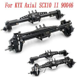 For KYX Axial SCX10 II 90046 Metal Front & Rear High Lift Portal Axle Parts Set