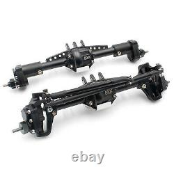 For KYX Axial SCX10 II 90046 Parts Metal Front & Rear High Lift Portal Axle Set