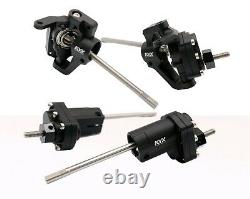 KYX Axial SCX10 II HD High Lift Complete Front and Rear Portal Axle set Black