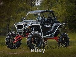 SuperATV 7-10'' Lift with Rhino 2.0 Axles for Polaris RZR 1000 High Lifter Red