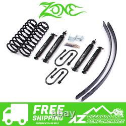 Zone Offroad 3 Lift Kit with Leafs fits 84-01 Jeep Cherokee XJ with Dana 35 Axle