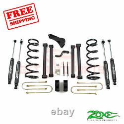 Zone Offroad 5 Lift Kit for Dodge Ram 03-07 2500/3500/1500 MCab 4-1/8Rear Axle